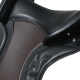 Sitzfläche schwarz, Sattelblatt mokka