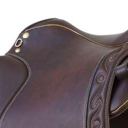 Dressage Andaluz - Farbbeispiel goldene Keder - Dressursattel auch für kurze Pferde