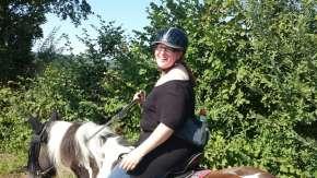 Amazona Dressage saddle on Tinker mare