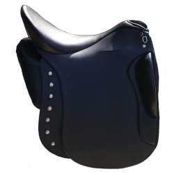 Amazona Dressage Comfort 2000 - schwarz mit 2. Sattelblatt und Verziehrung