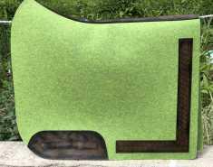 Filzschabracke Hellgrün - Leder Braun