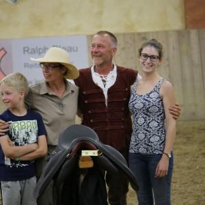 Iberosattel und Lederei Bleau verlosten Sattel auf dem Working Equitation Turnier am Chiemsee