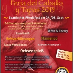 7. Odenheimer Pferdefest am 07./08. September und Iberosattel ist dabei!