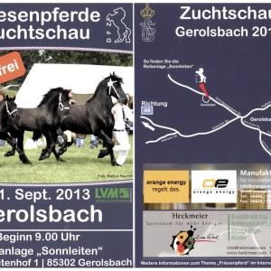 Iberosattel live im September – auf der Friesenpferde Zuchtschau in Gerolsbach